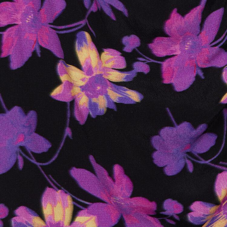 Vestito drappeggiato con stampa floreale : Vestiti colore Stampato