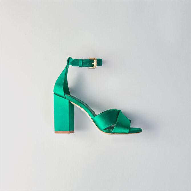 Sandali con tacco in satin - Tutte le scarpe - MAJE