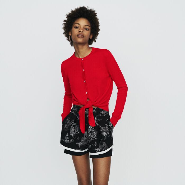 Cardigan annodato : Pullover e cardigan colore Rosso