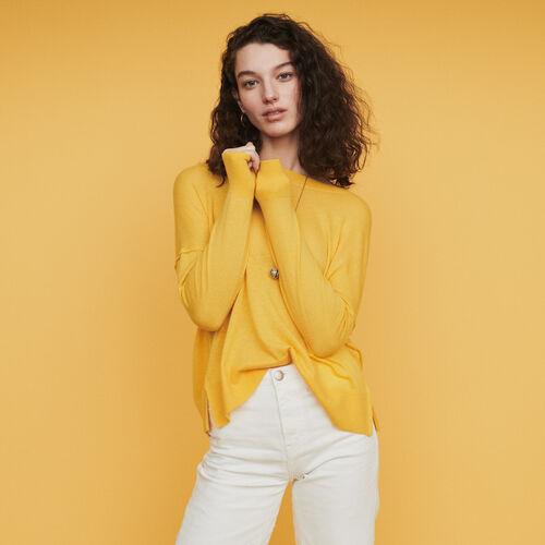 Pull oversize in cashmere : Pullover e cardigan colore Blu