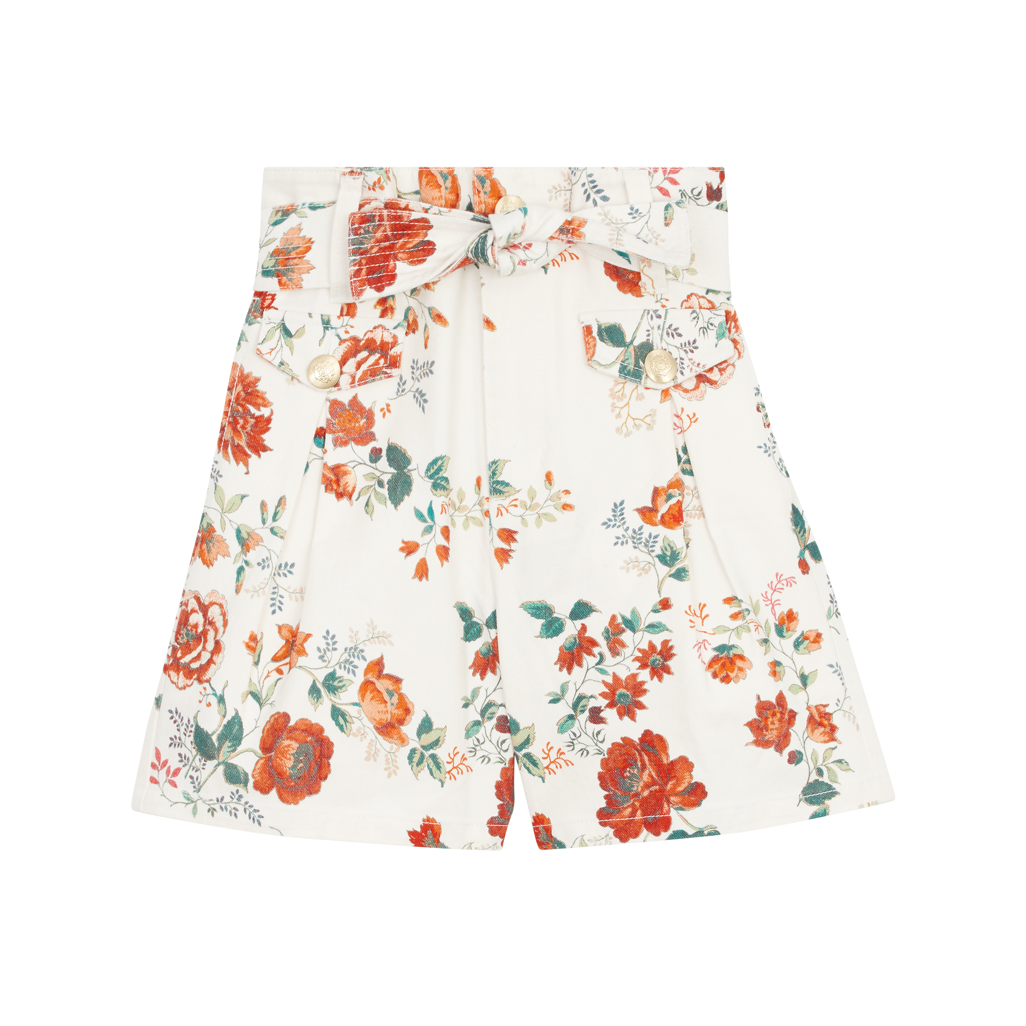 Short in jeans con stampa floreale - Gonne e shorts - MAJE