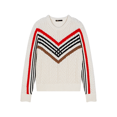 Twisted sweater with graphic motifs - Pullover e cardigan - MAJE