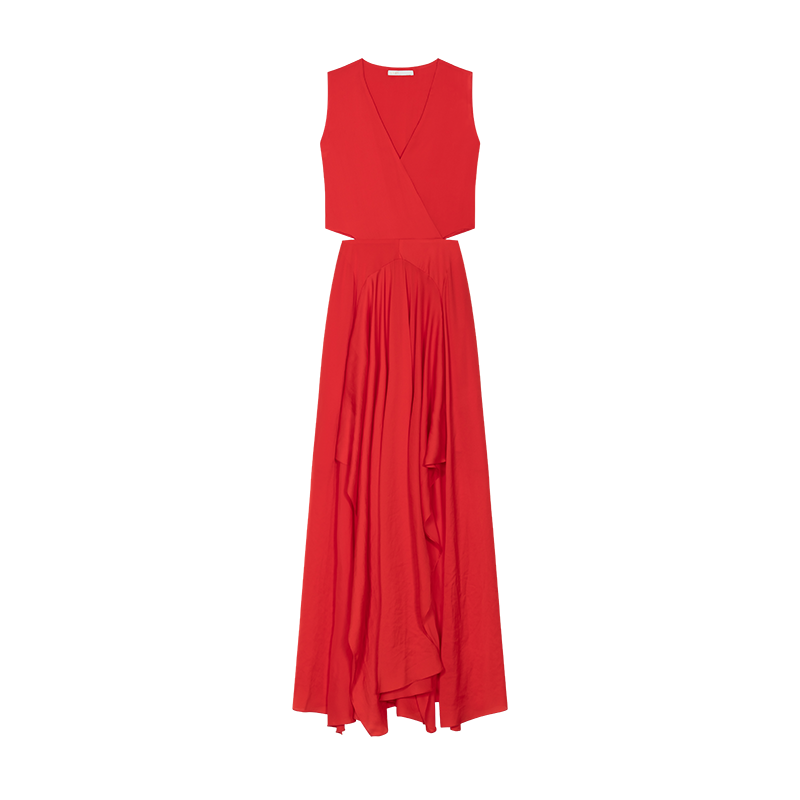 Maxi dress with flounce detail - Vestiti - MAJE