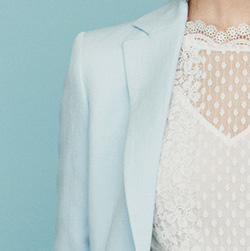 Giacca tailleur in misto lino